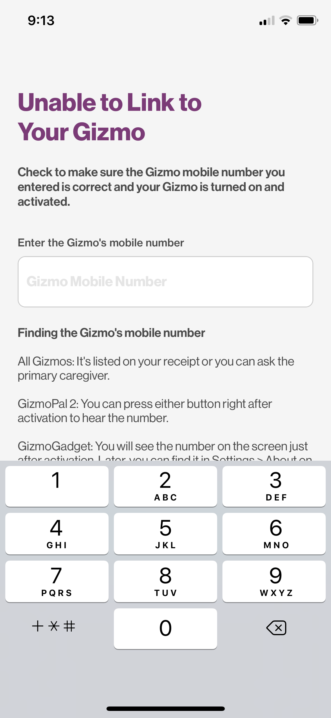 GizmoHub Not Pairing - Unable to Link to Your Gizm    - Verizon