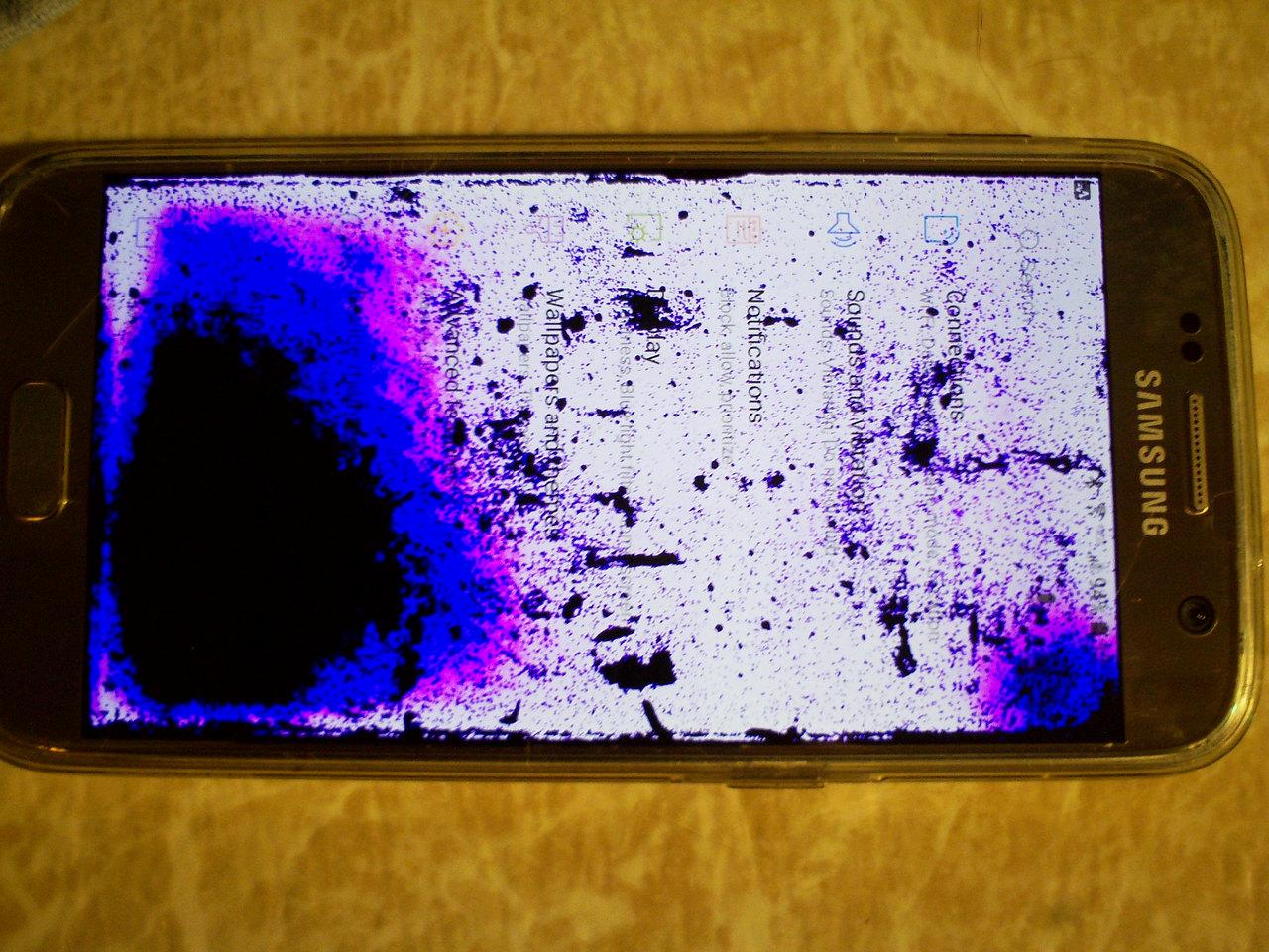 Correct Answer Purple Splotches Under In Screen Comunidad De Verizon