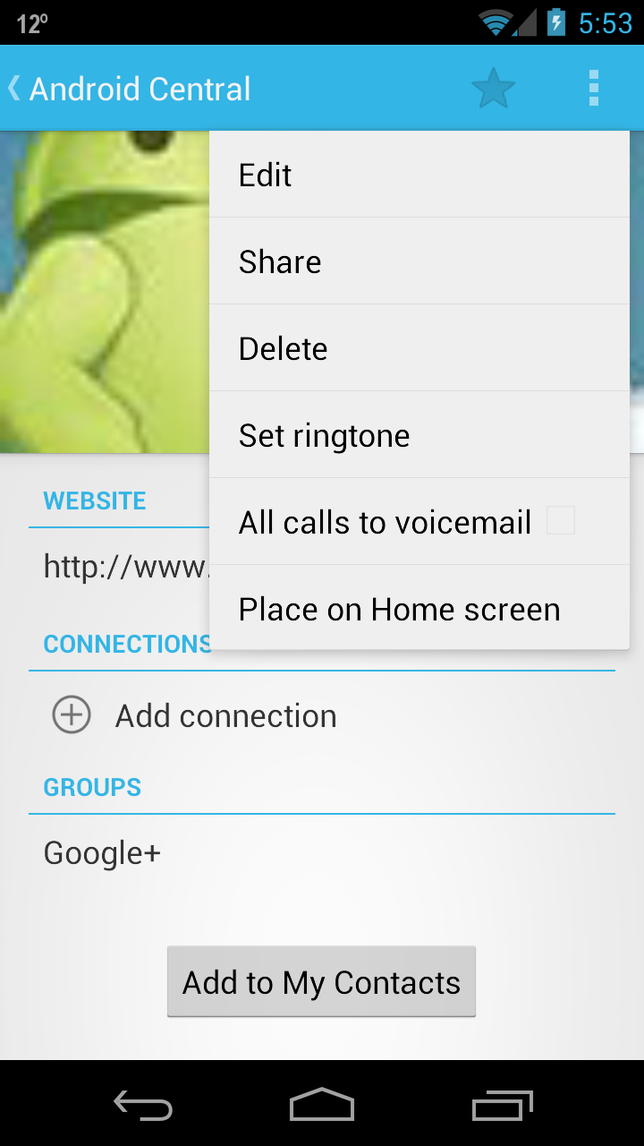 How to set up specific contacts to go directly int