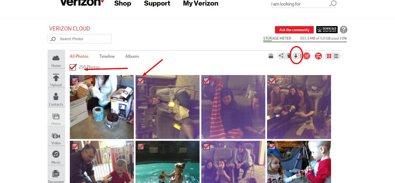 Correct Answer How Do I Transfer Photos From Verizon Cloud To A F Verizon Community