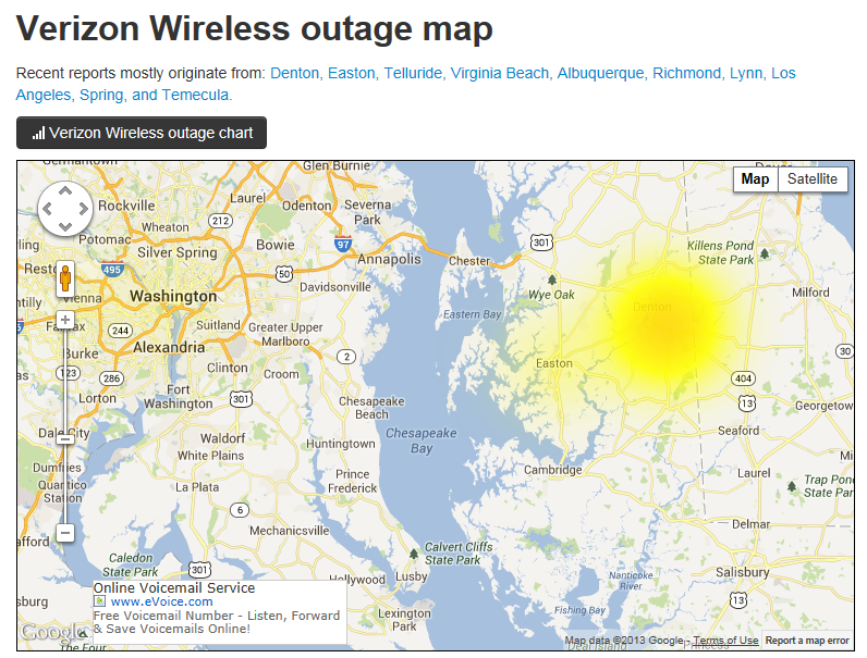 Verizon Wireless Outage Map Verizon Community
