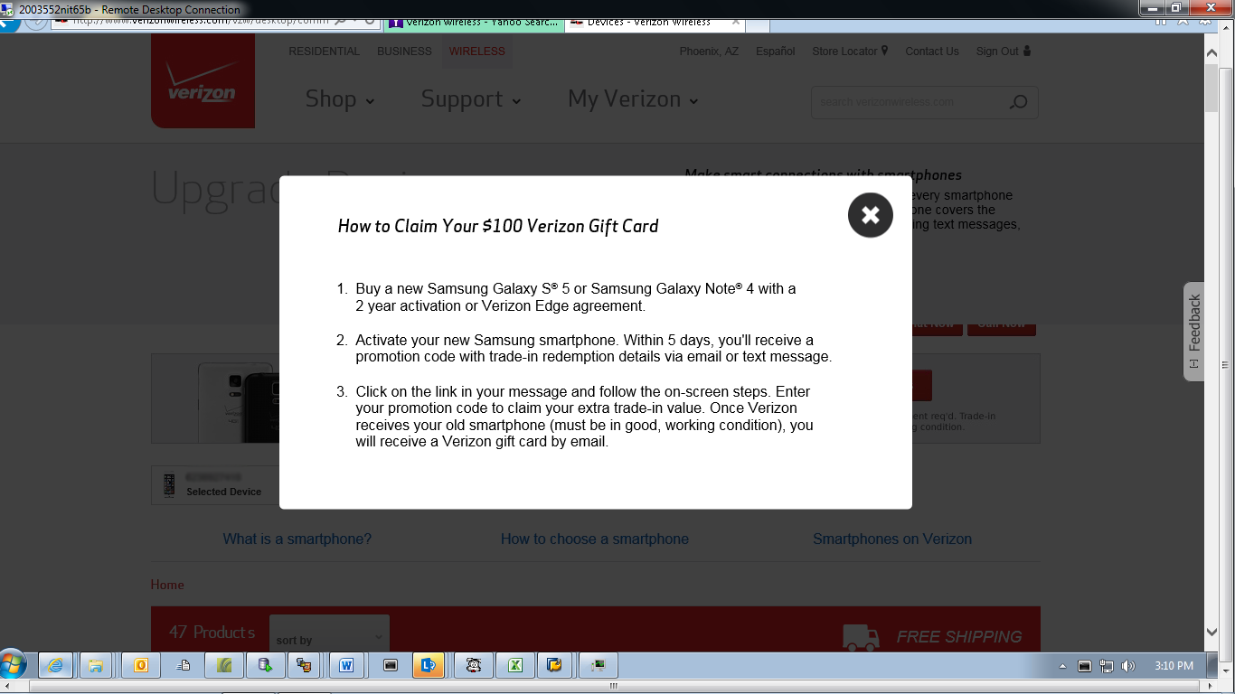 Verizon Wireless Gift Card Promotion - Gift Ideas