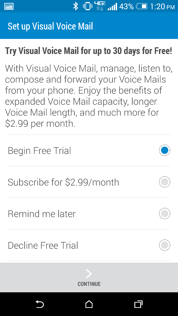 verizon visual voicemail not working android