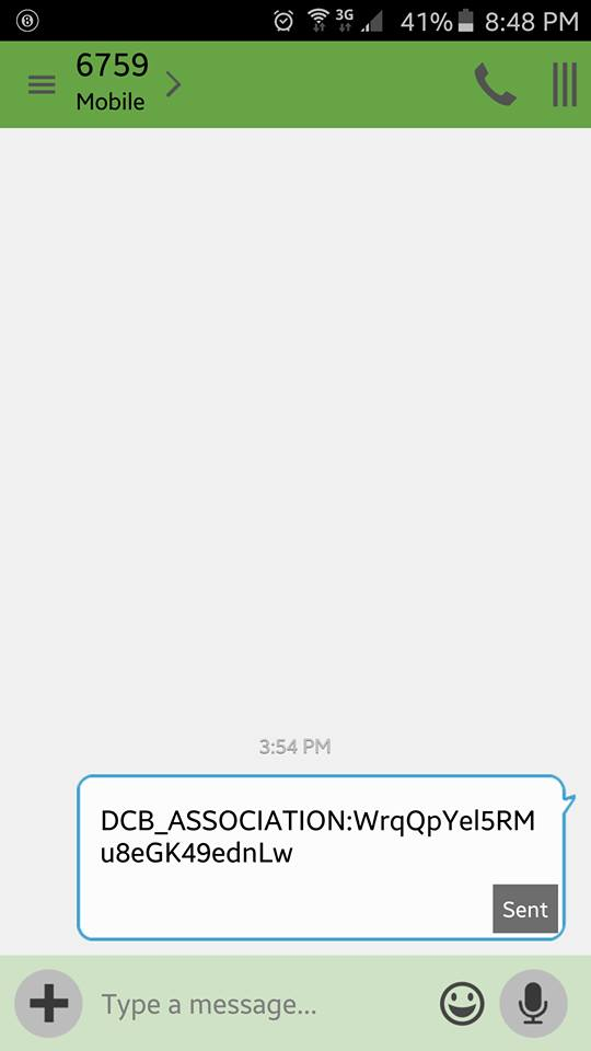 Correct Answer: DCB_ASSOCIATION text and hacked account?! - Verizon