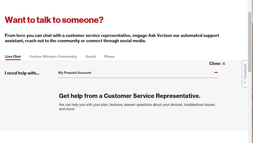 Correct Answer: How can a prepaid customer reach a customer