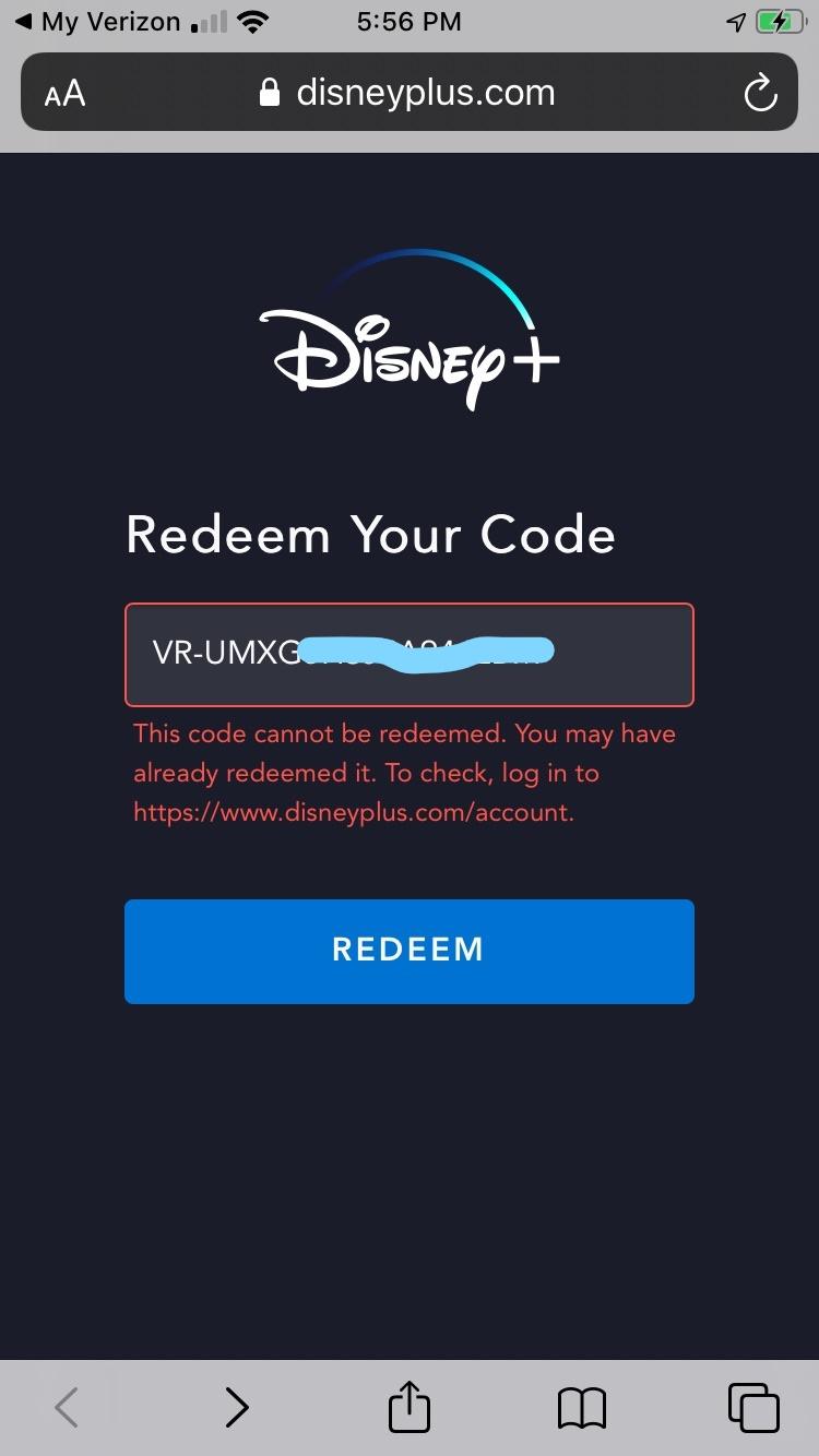 Correct Answer Disney Promotion Not Working Verizon Community