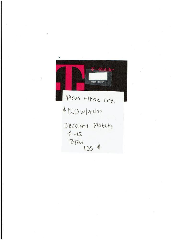T Mobile Offer