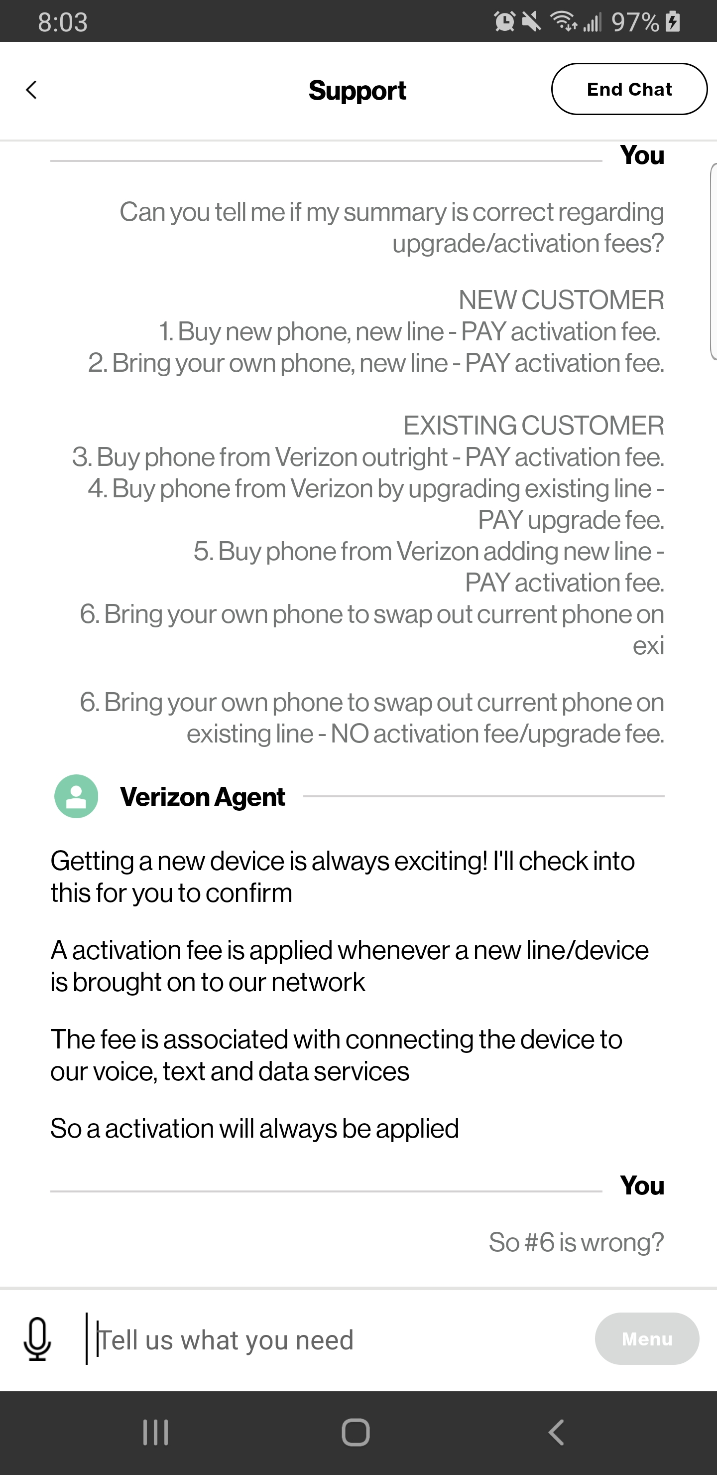 Correct Answer Do I Have To Pay An Activation Fee If I Buy A Phon Verizon Community