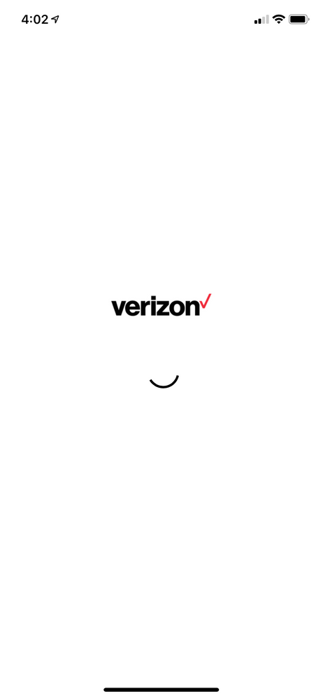 My Verizon App shows spinning circle and eventuall